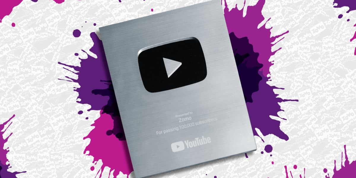 Placa 100 mil inscritos canal do yotube